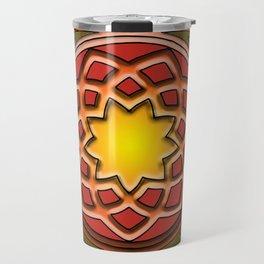 Celtic Knotwork panel in Persian Green Travel Mug