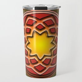 Celtic Knotwork panel in Persian Green Travel Mug