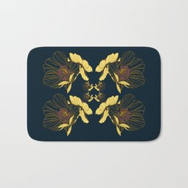 Art Nouveau Poppy Abstract Bath Mat