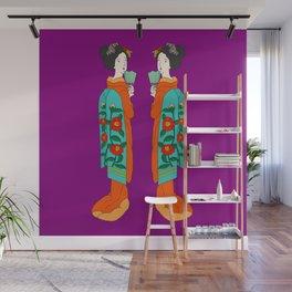 Twin Geisha Wall Mural