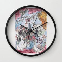 Pink Saturdays Wall Clock