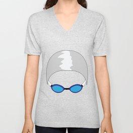 Swim Cap and Goggles Unisex V-Neck