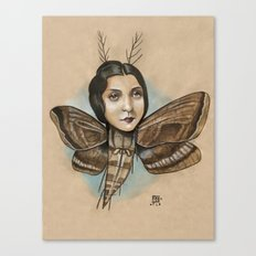 MOTH LADY Canvas Print