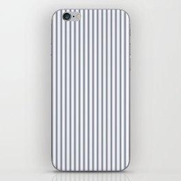 Dark Sargasso Blue Mattress Ticking Narrow Striped Pattern - Fall Fashion 2018 iPhone Skin