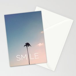 Palm tree Smile Stationery Cards