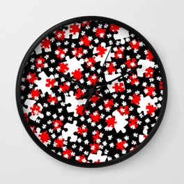 DT PUZZLE SCATTER 1 Wall Clock