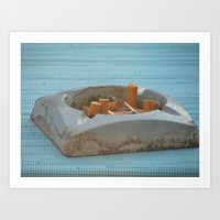 cigarettes Art Prints featuring Cigarettes  by Rovar
