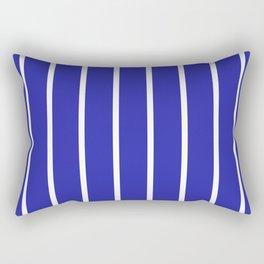Vertical Lines (White & Navy Pattern) Rectangular Pillow