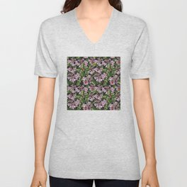Floral insects pattern Unisex V-Neck