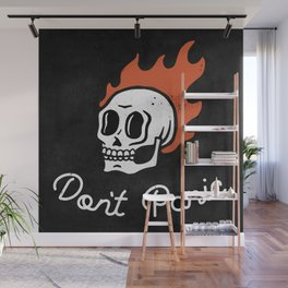 Don't Panic - Skull (Dark) Wall Mural