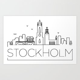 stockholm Father's Day Art Print