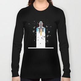 Spaceship Timeline | Galaxy Long Sleeve T-shirt