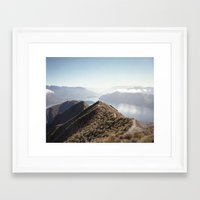 new zealand Framed Art Prints featuring New-Zealand by nodirectionhome