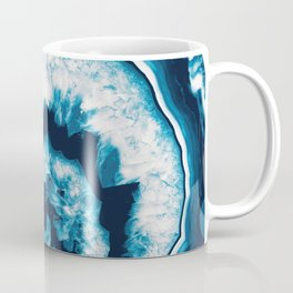 Blue White Agate #1 #gem #decor #art #society6 Coffee Mug