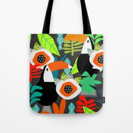 Tropical vibe with toucans Tote Bag