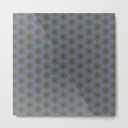 Embroidered Kaleidoscope - Stars Metal Print