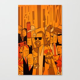 The Big Lebowski (variant aspect ratio) Canvas Print