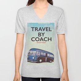Travel By Coach Unisex V-Neck