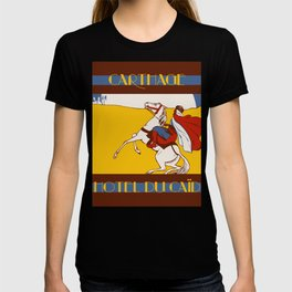 Vintage style 1920s Carthage travel advertising T-shirt