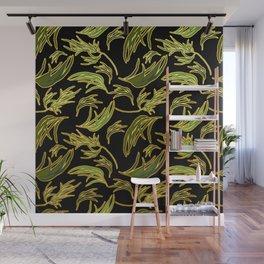 Cute Eucalyptus Leaves Print Wall Mural
