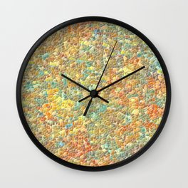Colorful Pebble Mosaic Wall Clock