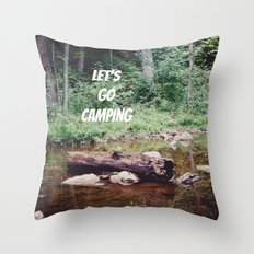 Let's Go Camping II Throw Pillow