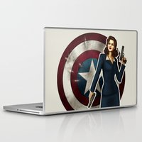 peggy carter Laptop & iPad Skins featuring Agent Carter by Tera Sidebottom