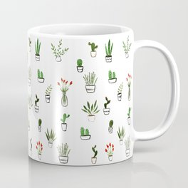 Green plants pattern Coffee Mug