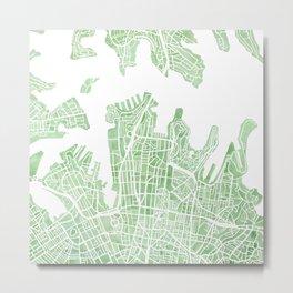Sydney Australia watercolor city map Metal Print