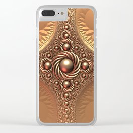 A Touch of Gold Clear iPhone Case