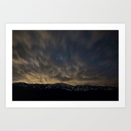 Meteor Over The Bridgers Art Print