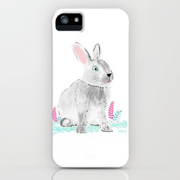 Cute little rabbit iPhone Case