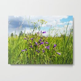 bellflowers in the grass Metal Print