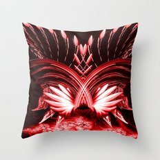 Red Phoenix Throw Pillow