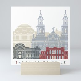 Santiago de Chile skyline poster Mini Art Print