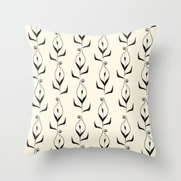 Art Deco No. 47 . Calla . Throw Pillow