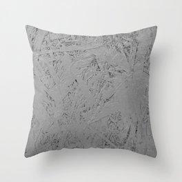 grey painted OSB Throw Pillow
