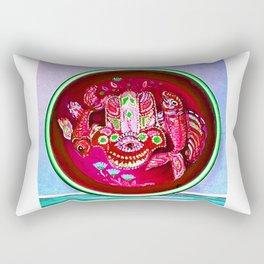 Hamsa Symbol and two Fishes Rectangular Pillow