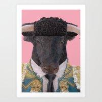 Spanish Bull Art Print