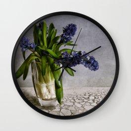 still life with hyacinth Wall Clock