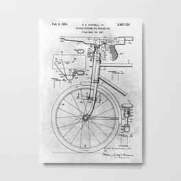 No010 Bicycle And Toy Gun Metal Print