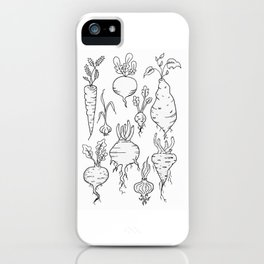 Root Vegetable Study Illustration iPhone Case