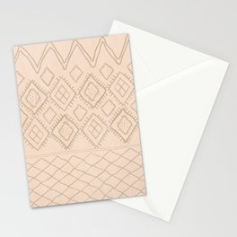 Beni Moroccan Print in Tan Stationery Cards