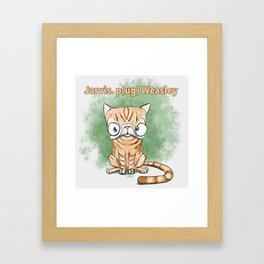 Jarvis Pug Weasley Framed Art Print