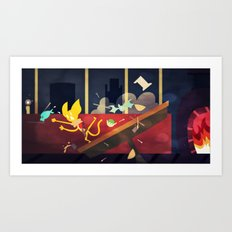 The Kitchen Of Unending Food Art Print