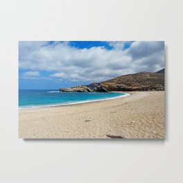 Vori located at the most wild side of Andros, Greece Metal Print