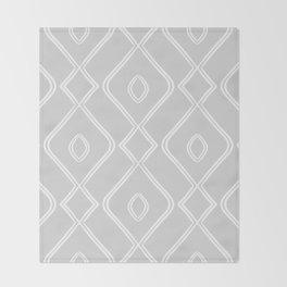 Modern Boho Ogee in Grey Throw Blanket