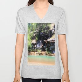 Afternoon on the River Unisex V-Neck