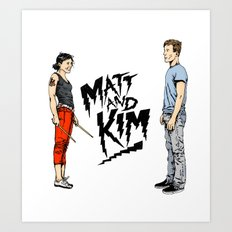 Matt and Kim Art Print
