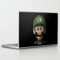 luigi Laptop & iPad Skins featuring Pictodotz - Luigi by dudsbessa